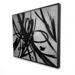Framed 48 x 60 - 3D - Circular strokes