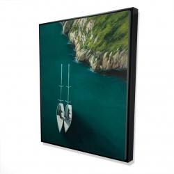 Framed 48 x 60 - 3D - Smooth sailing