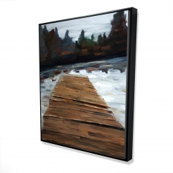 Framed 48 x 60 - 3D - Dock and lake