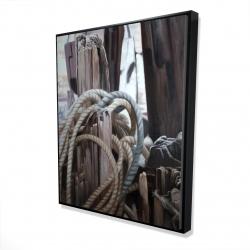 Framed 48 x 60 - 3D - Driftwood