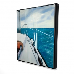 Framed 48 x 60 - 3D - Sail on the water
