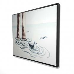 Framed 48 x 60 - 3D - Seagull