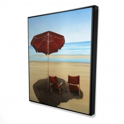 Framed 48 x 60 - 3D - Relax at the beach