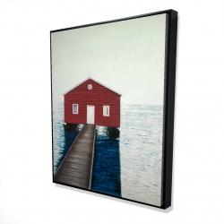 Framed 48 x 60 - 3D - Boathouse