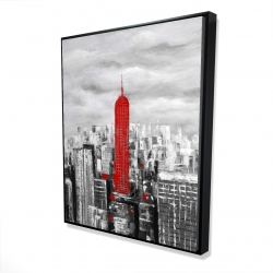 Framed 48 x 60 - 3D - Empire state building of new york