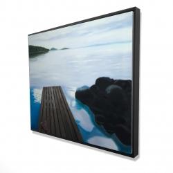Framed 48 x 60 - 3D - Evening on the dock