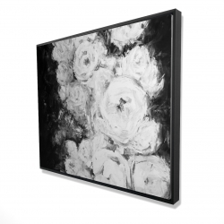 Framed 48 x 60 - 3D - Monochrome rose garden