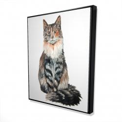 Framed 48 x 60 - 3D - Norwegian forest cat
