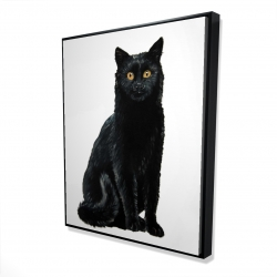 Framed 48 x 60 - 3D - Black cat