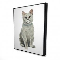 Framed 48 x 60 - 3D - British shorthair cat