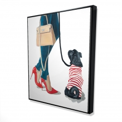 Framed 48 x 60 - 3D - Best friends fashion