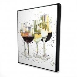 Framed 48 x 60 - 3D - Beautiful wine glasses