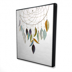 Framed 48 x 60 - 3D - Dreamcatcher with feathers