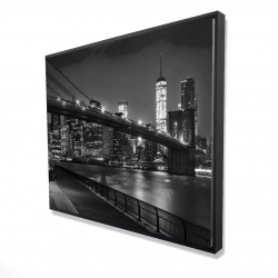 Framed 48 x 60 - 3D - City under the night