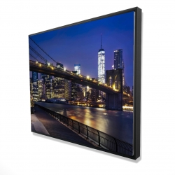 Framed 48 x 60 - 3D - City at night