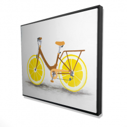 Framed 48 x 60 - 3D - Lemon wheel bike