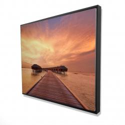 Framed 48 x 60 - 3D - Sea villas