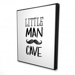 Framed 48 x 60 - 3D - Little man cave