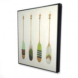 Framed 48 x 60 - 3D - Colorful nautical oars