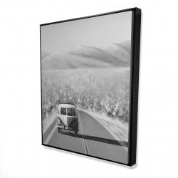 Framed 48 x 60 - 3D - Car on the road