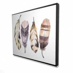 Framed 48 x 60 - 3D - Purple feather set