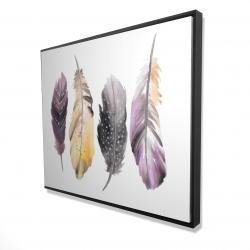 Framed 48 x 60 - 3D - Bohemian feather set
