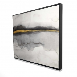 Framed 48 x 60 - 3D - Gold stripe abstract