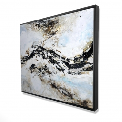 Framed 48 x 60 - 3D - Abstract and texturized paint splash