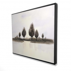 Framed 48 x 60 - 3D - Abstract landscape of trees