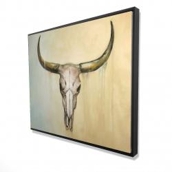 Framed 48 x 60 - 3D - Cow skull