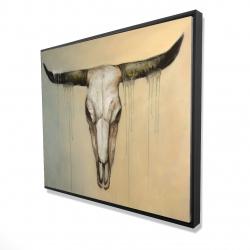 Framed 48 x 60 - 3D - Bull skull