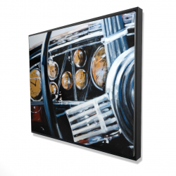 Framed 48 x 60 - 3D - Vintage car interior