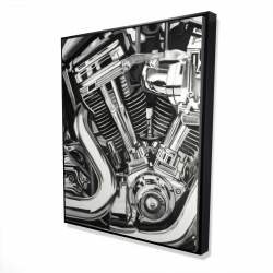 Framed 48 x 60 - 3D - Mechanism of a motorcycle