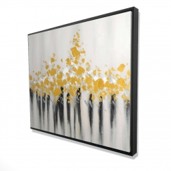 Framed 48 x 60 - 3D - Abstract gold flowers
