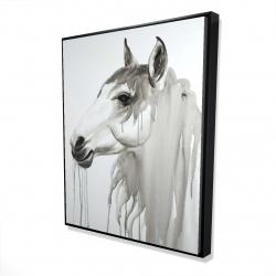 Framed 48 x 60 - 3D - Beautiful white horse