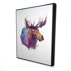 Framed 48 x 60 - 3D - Abstract moose