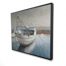 Framed 48 x 60 - 3D - Fishing boat desatured