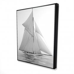 Framed 48 x 60 - 3D - Sailing ship