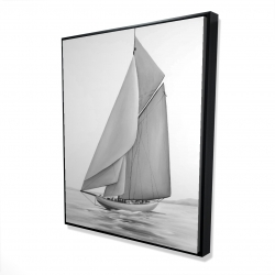 Framed 48 x 60 - 3D - Vintage sailing ship