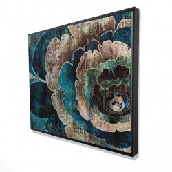 Framed 48 x 60 - 3D - Blue flower montage