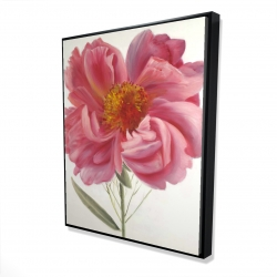 Framed 48 x 60 - 3D - Pink peony flower