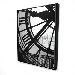Framed 48 x 60 - 3D - Clock at the orsay museum