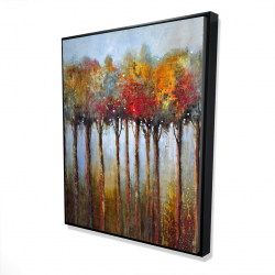 Framed 48 x 60 - 3D - Colorful leaves trees
