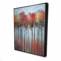 Framed 48 x 60 - 3D - Abstract and colorful forest