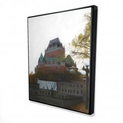 Framed 48 x 60 - 3D - Le château de frontenac in autumn