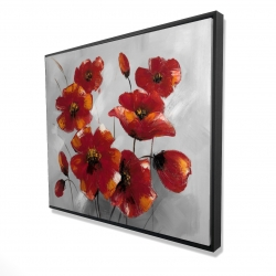 Framed 48 x 60 - 3D - Anemone flowers