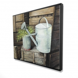 Framed 48 x 60 - 3D - Vintage watering can