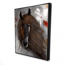Framed 48 x 60 - 3D - Proud brown horse