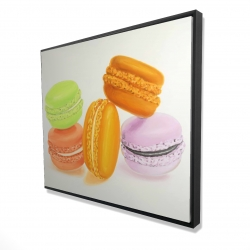 Framed 48 x 60 - 3D - Small bites of macaroons