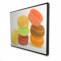 Framed 48 x 60 - 3D - Delicious macaroons